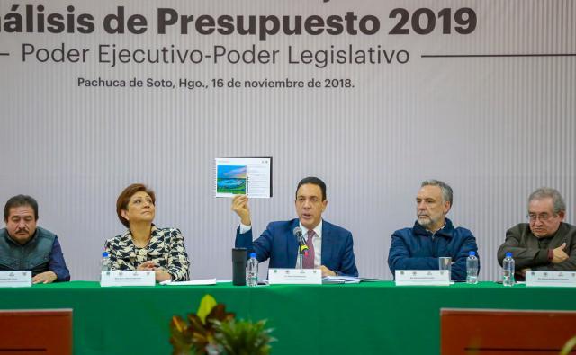 NADA DE IMPROVISAR Omar Fayad y diputados analizan Presupuesto 2019