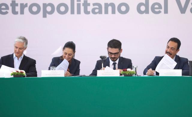 , CALIDAD DE VIDA. Hidalgo, Edomex y CDMX firman acuerdo para mejora del Valle de México