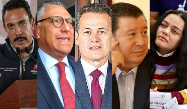 Omar Fayad, Raúl Arroyo, Adolfo Pontigo, Gerardo Sosa y Roxana Montealegre.
